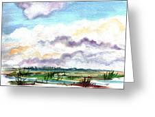 Big Clouds Greeting Card