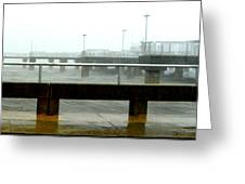 Big Dock Tropical Storm Greeting Card