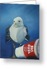 Big Gull Greeting Card by Amy Reisland-Speer