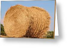 Big Hay Bail Greeting Card