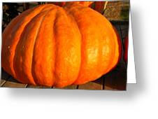 Big Orange Pumpkin Greeting Card