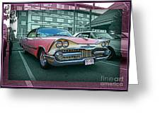 Big Pink Dodge Greeting Card