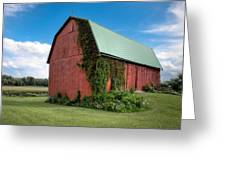 Big Red Barn On Rt 227 Greeting Card
