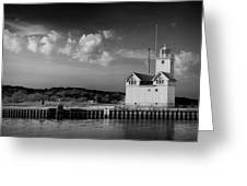 Big Red Lighthouse In Holland Michigan Greeting Card