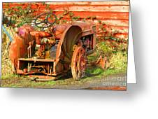 Big Red Tractor Greeting Card