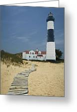 Big Sable Lighthouse In Ludington Michigan Number 3 Greeting Card