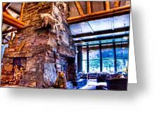 Big Sky Lodge Interior Greeting Card