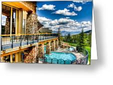 Big Sky Ski Resort Montana Greeting Card