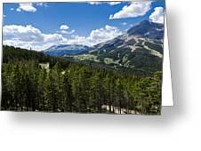Big Sky Ski Trails Greeting Card