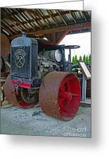 Big Steel Wheel Tractor Greeting Card