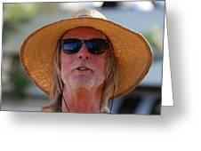 Big Straw Hat Greeting Card
