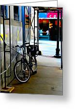 Bike - Scaffold - Lunchers - Water Color Conversion Greeting Card