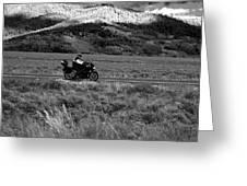 Bike Run Through Yellowstone Greeting Card