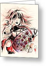 Biker Girl Greeting Card