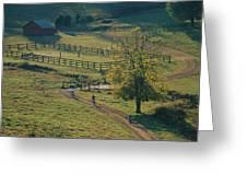 Bikers On Dirt Road, Pocahantas County Greeting Card