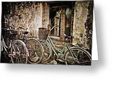 Bikes And A Window Greeting Card