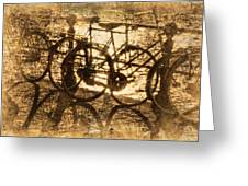 Bikes On The Canal Greeting Card