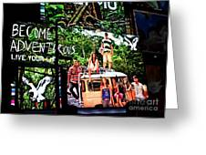 Billboards In Times Square Greeting Card