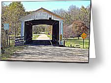 Billie Creek Village Covered Bridge Greeting Card