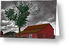 Bills Barn   Red Greeting Card