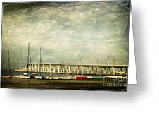 Biloxi Bay Bridge Greeting Card