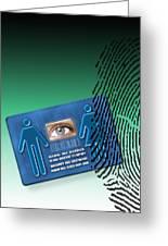 Biometric Id Card Greeting Card