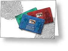 Biometric Id Cards Greeting Card