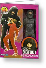Bionic Bigfoot Greeting Card