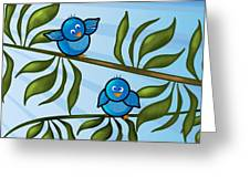 Bird Branch Greeting Card by Melisa Meyers