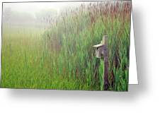 Bird House In Quogue Wildlife Preserve Greeting Card by Rick Berk