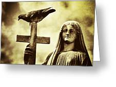 Bird On The Cross Greeting Card