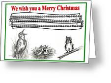 Bird Song For Christmas Greeting Card