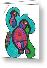 Birdfish Watch Greeting Card