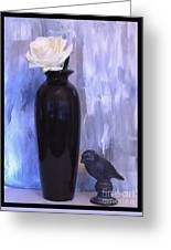 Birdie And The Rose Greeting Card