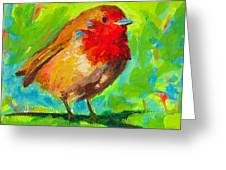 Birdie Bird - Robin Greeting Card