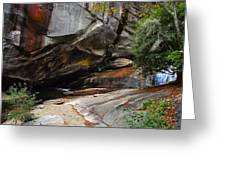 Birdrock Waterfall Greeting Card
