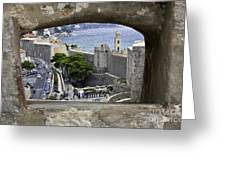 Bird's Eye View Of Dubrovnik Greeting Card
