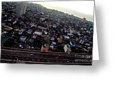 Birds Eye View Of The Pasay City Greeting Card