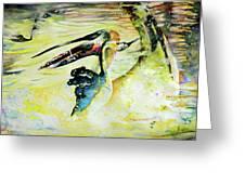 Birds Love Dance Greeting Card