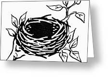 Birds Nest Greeting Card
