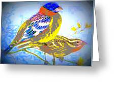 Birds Of Color Greeting Card