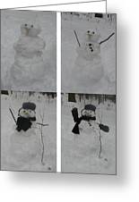 Birth Of A Snowman Greeting Card