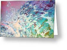 Birth Of Aphrodite From The Sea Foam Greeting Card