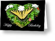 Birthday Greeting Card - Tiger Swallowtail Butterfly Greeting Card