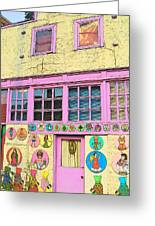 Colorful Building Bisbee Az Greeting Card