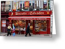Biscuits And Calvados Greeting Card