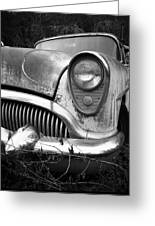 Black An White Buick Greeting Card