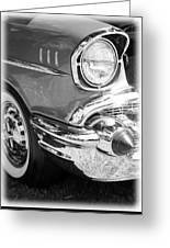 Black And White 1957 Chevy Greeting Card