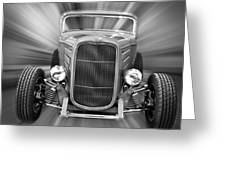 Black And White 32 Ford Greeting Card by Steve McKinzie