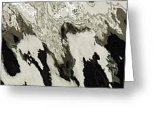 Black And White Abstract I Greeting Card